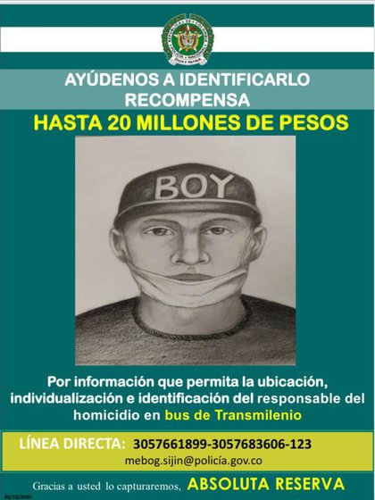 Retrato hablado de presunto asesino de Oswaldo Muñoz. Foto: Policía Nacional