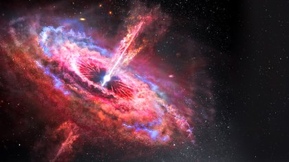 """Los astrónomos buscan observar este """"monstruo"""" por contraste, es decir, gracias al fondo brillante que forma la materia que lo envuelve (Shutterstock)"""