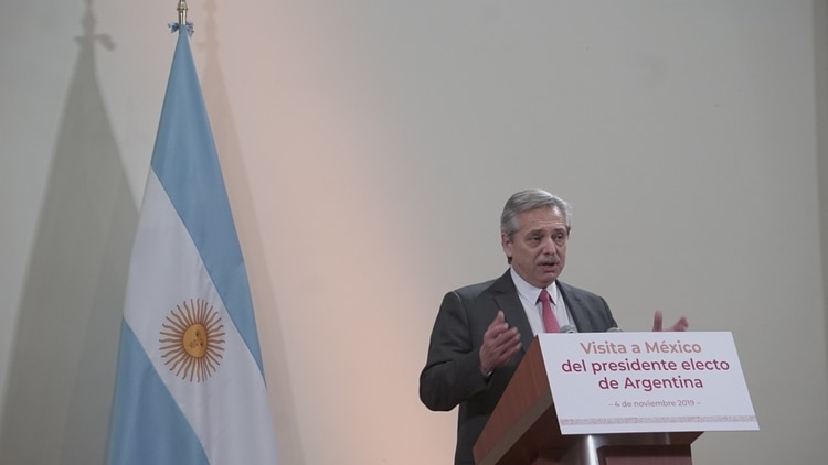 Alberto Fernández en México (Steve Allen)