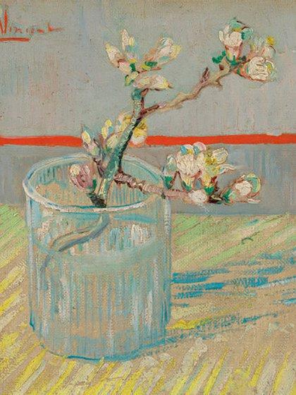 """""""Rama de almendro en flor en un vaso"""" (1888), otra obra del periodo, está en el Museo van Gogh de Ámsterdam."""