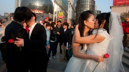 Pese a los múltiples pedidos de la sociedad civil, China se niega a legalizar el matrimonio homosexual
