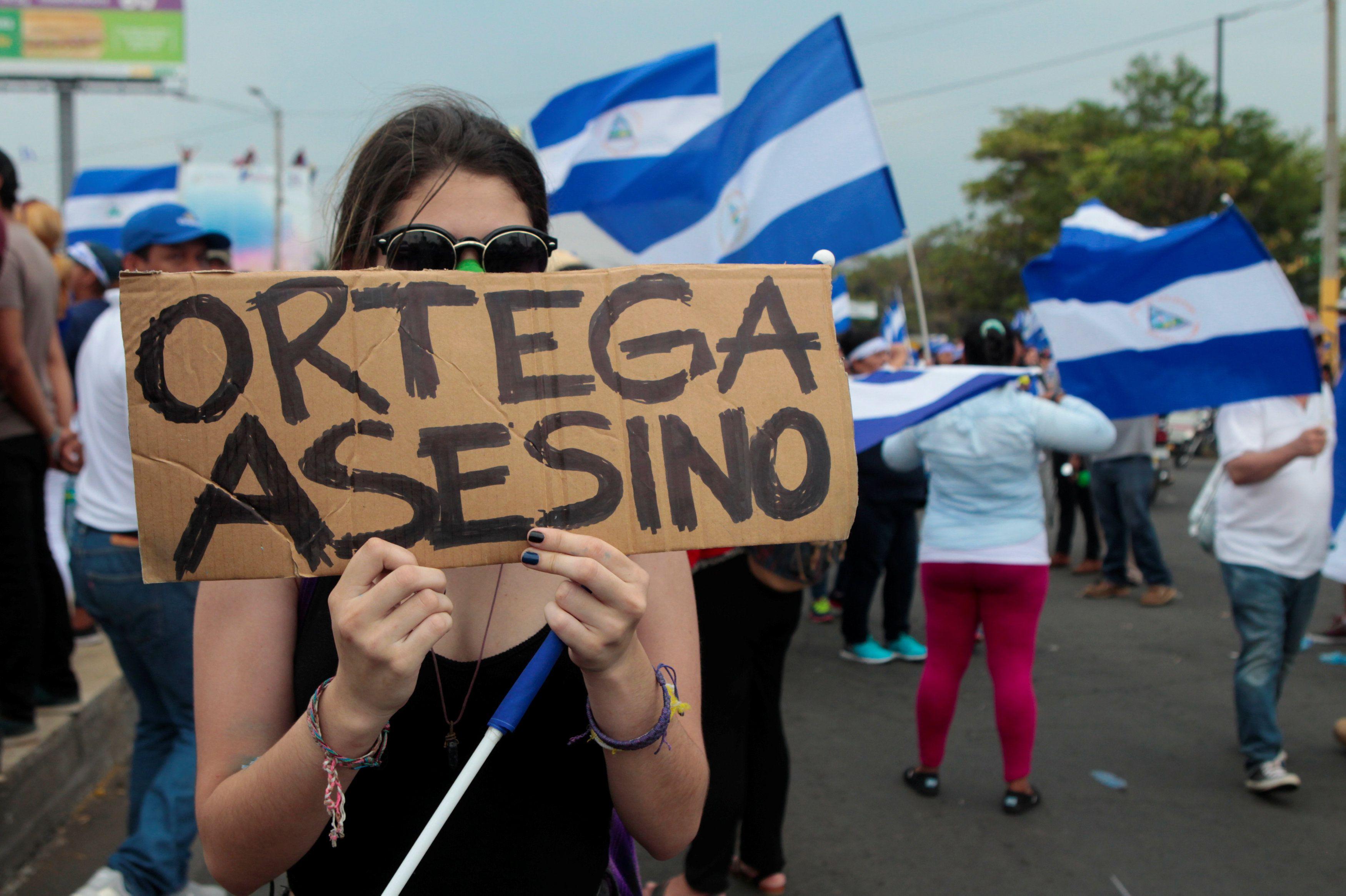 Las manifestaciones contra el régimen de Daniel Ortega en Nicaragua comenzaron el 18 de abril (REUTERS/Oswaldo Rivas)