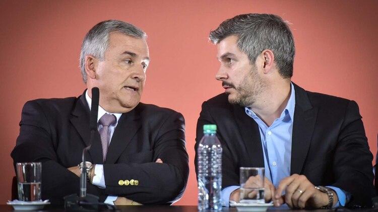El gobernador de Jujuy, Gerardo Morales y el jefe de Gabinete, Marcos Peña (Guillermo llamos)