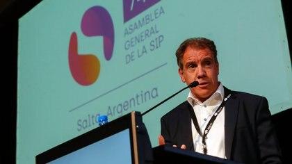 El fundador y CEO de Daniel Hadad fue uno de los dos oradores de la 74ª asamblea de la Sociedad Interamericana de Prensa en Salta (Foto: gentileza El Tribuno de Salta)