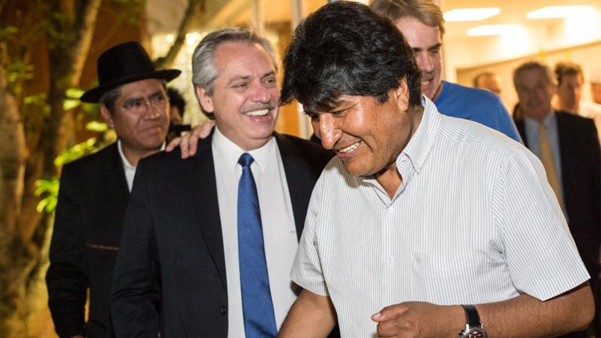 Alberto Fernández y Alberto Morales antes de su exilio en Buenos Aires