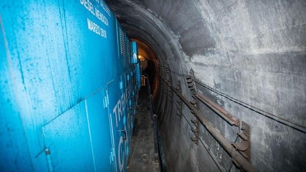 Por el túnel puede pasar una sola formación de tren (Gentileza Ministerio de Transporte)