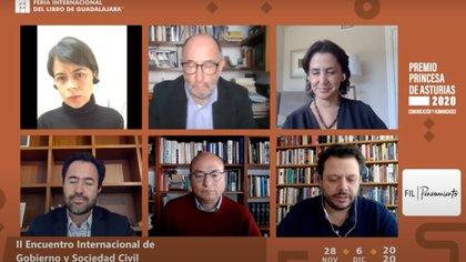 En la discusión organizada por la Feria Internacional del Libro de Guadalajara se abordó la cuestión de la democracia y la alternancia política (Foto: Youtube)