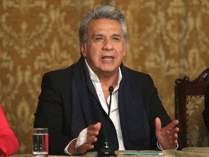 Lenin Moreno se dirige a a la nación tras el resultado (REUTERS/Daniel Tapia)