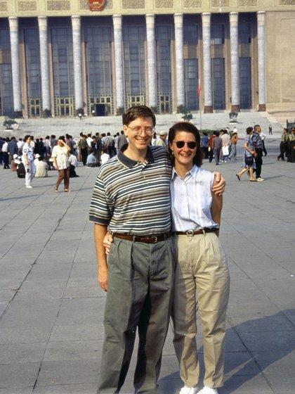 Melinda y Bill durante su primer viaje a china juntos (Foto: Instagram@melindafrenchgates)