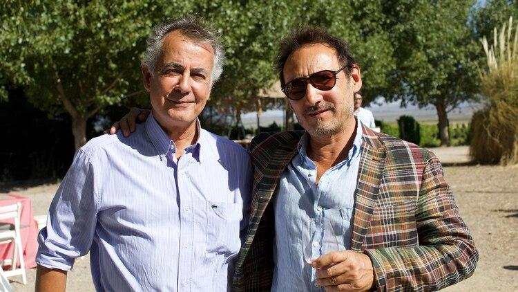 El enologo Gustavo Marin de Escorihuela Gascon y Ernesto Catena de Ernesto Catena Vineyars
