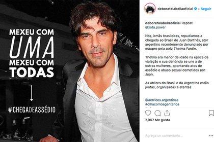 El posteo de Débora Falabella en Instagram.
