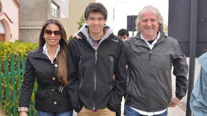 Miguel Ángel Zuvic, junto a su hija Mariana