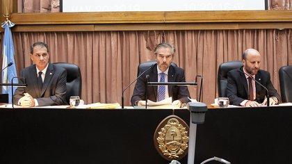 Javier Carbajo, Gustavo Hornos y Mariano Borinsky