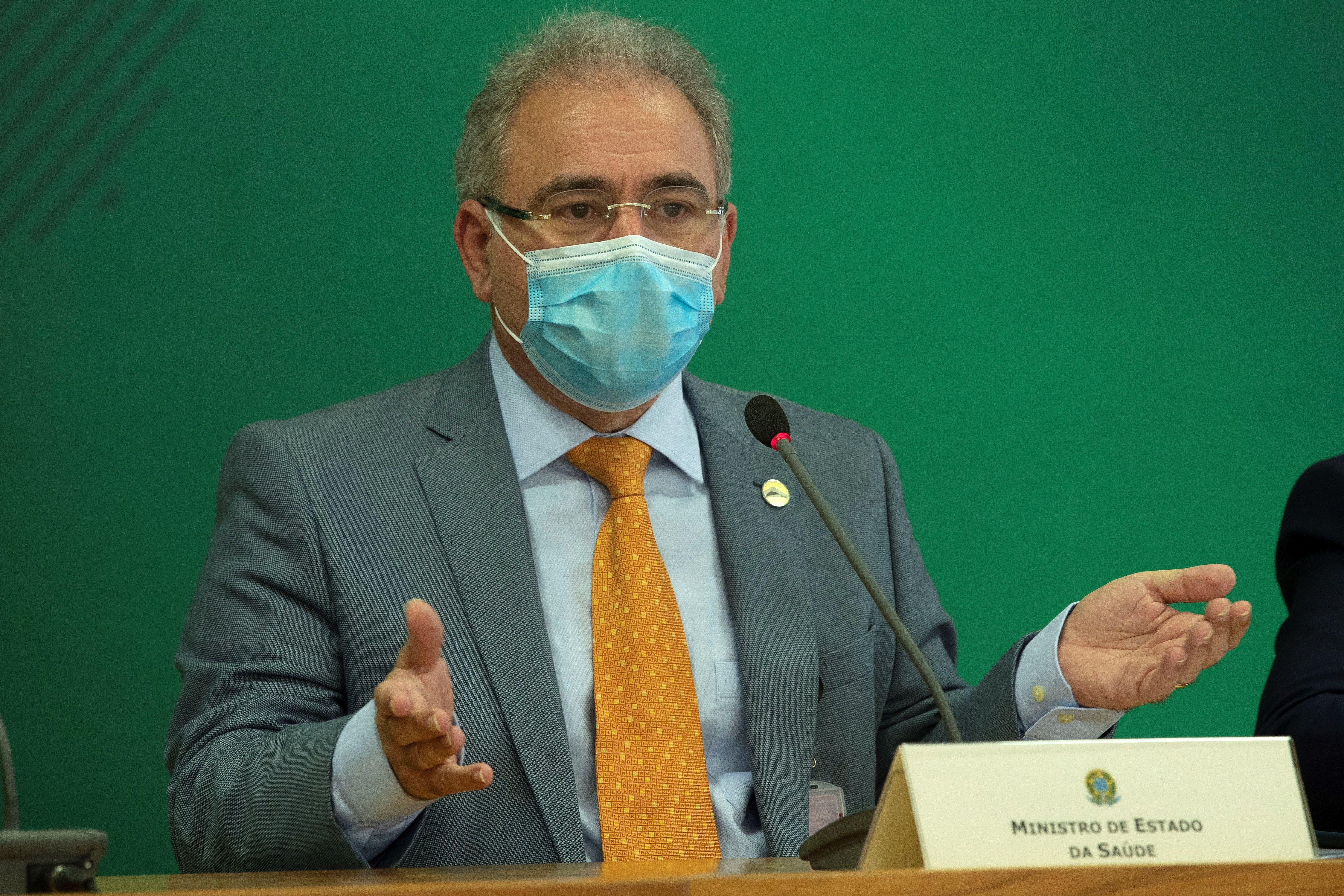 En la imagen, el ministro de Salud de Brasil, Marcelo Queiroga. EFE/Joédson Alves/Archivo