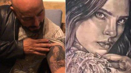 Este tatuaje fue hecho mientras ambos sostenían un supuesto romance surgido tras bambalinas del reality show La Voz México