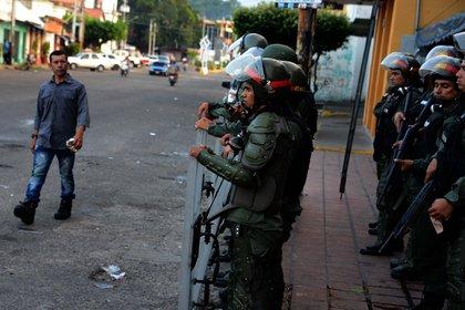 Eduardo Gámez Flores es teniente coronel de la Guardia Nacional Bolivariana (AFP)