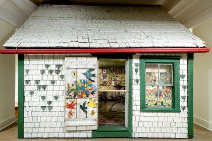 """""""La pequeña cabaña"""", de Maud Lewis  en The Art Gallery of Nova Scotia"""