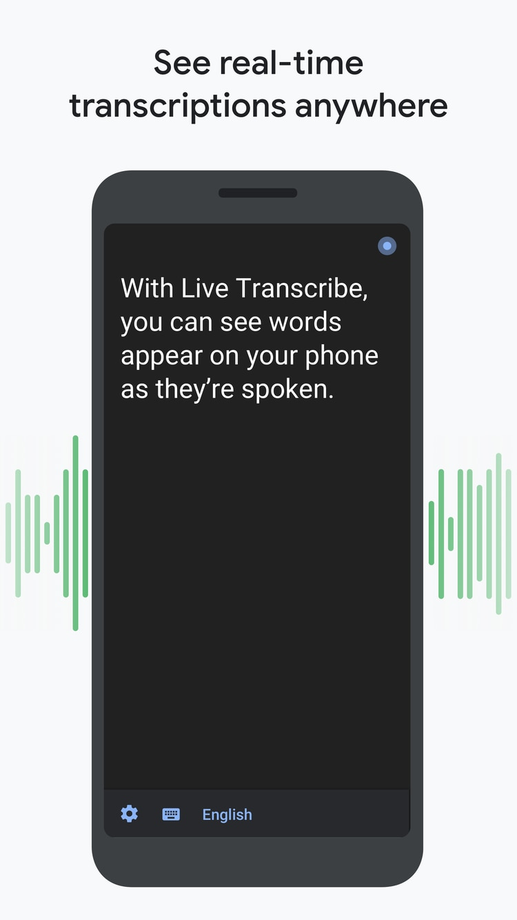 La app convierte a texto los audios que percibe. Funciona en 70 idiomas.