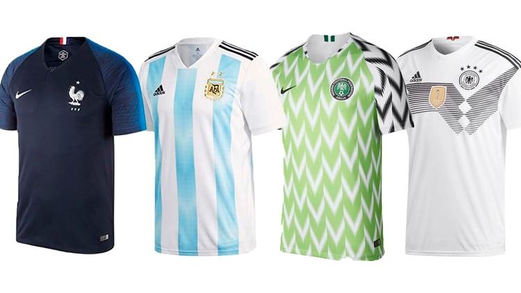 Mundial con estilo  las 30 camisetas titulares y suplentes de fútbol ... 356c839111533