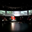 The Ferrari car of Formula One driver Niki Lauda is lit with a spotlight at the Ferrari Museum in Maranello, near Modena, Italy, Tuesday, May 21, 2019 on the day Lauda's family issued a statement saying the three-time world champion had passed away at the age of 70. Lauda won the F1 drivers' championship in 1975 and 1977 with Ferrari and again in 1984 with McLaren. (Ferrari SpA via AP)
