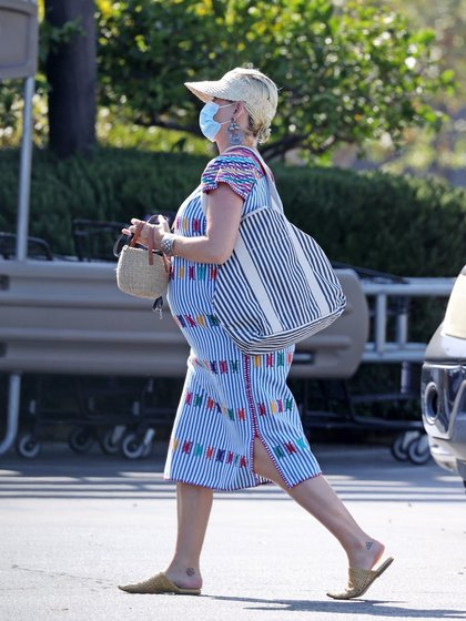 With face masks and huipil, this is how Katy Perry went to the supermarket (Photo: File)