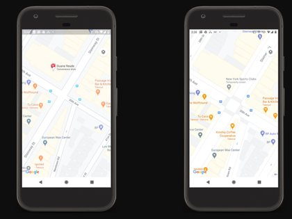 Cruces peatonales en Google Maps