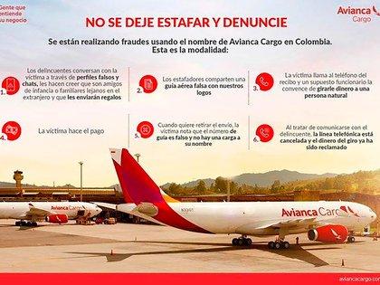 Por las denuncias de fraude Avianca lanzó una campaña de prevención a sus usuarios.