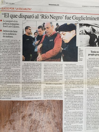 La noticia en el diario Río Negro
