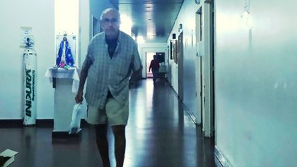 Barreda en el Hospital Magdalena Villegas de General Pacheco. Allí había llegado el 25 de mayo de 2016 confundido, usando pañales, y presentándose como Alberto Navarro (Infobae)