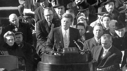 John F. Kennedy pronunció su discurso inaugural el 20 de enero de 1961 (George Tames/The New York Times)