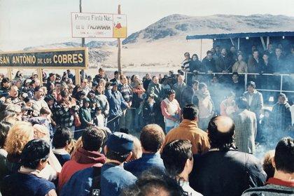 La celebración a la Pachamama se realiza en diversos puntos del país, como es el caso de San Antonio de los Cobres, en la provincia de Salta.