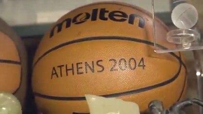 La pelota de la final en Atenas 2004