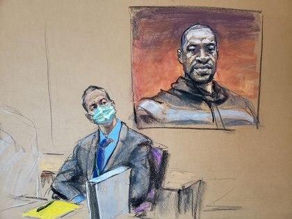 Ilustración de la audiencia en Minneapolis (Reuters)