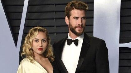 Liam Hemsworth le solicitó oficialmente el divorcioa Miley Cyrus (AP)