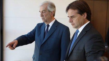 Desde que ganó las elecciones, Lacalle Pou se reunió vcarias veces con el presidente saliente Tabaré Váquez