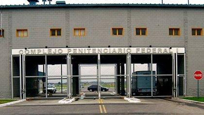 La entrada de la cárcel de Ezeiza