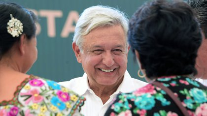 En su gira por Campeche este 1 de febrero, Andrés Manuel López  Obrador aseguró que el Tren Maya estará listo un año antes de que termine su administración (Foto: Efe)