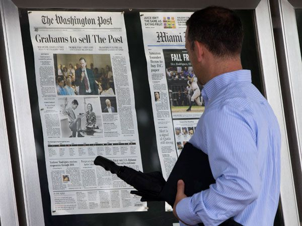 Jeff Bezos compró The Washington Post en 2013, y lo convirtió en un éxito digital. (AP)