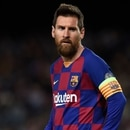 Editorial Use Only Mandatory Credit: Photo by Bagu Blanco/BPI/Shutterstock (10466143ax) Lionel Messi of FC Barcelona Barcelona v Slavia Prague, UEFA Champions League, Group F, Football, Camp Nou, Spain - 05 Nov 2019