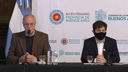 Gollán junto al gobernador de la provincia de Buenos Aires, Axel Kicillof