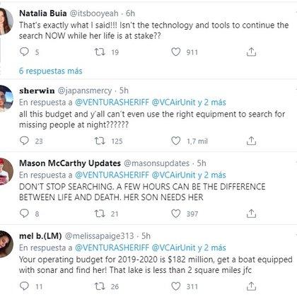 Usuarios de Twitter no estuvieron de acuerdo con que las autoridades suspendieran la búsqueda