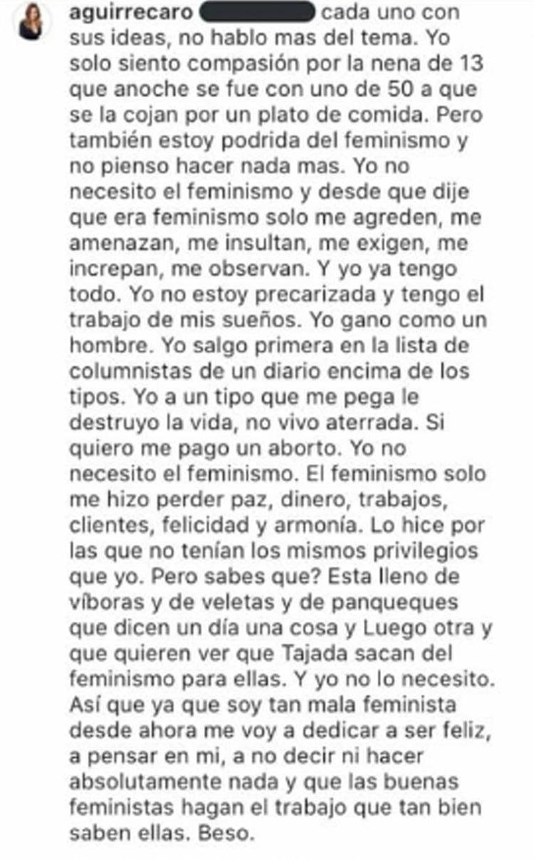 Carolina Aguirre (Instagram)