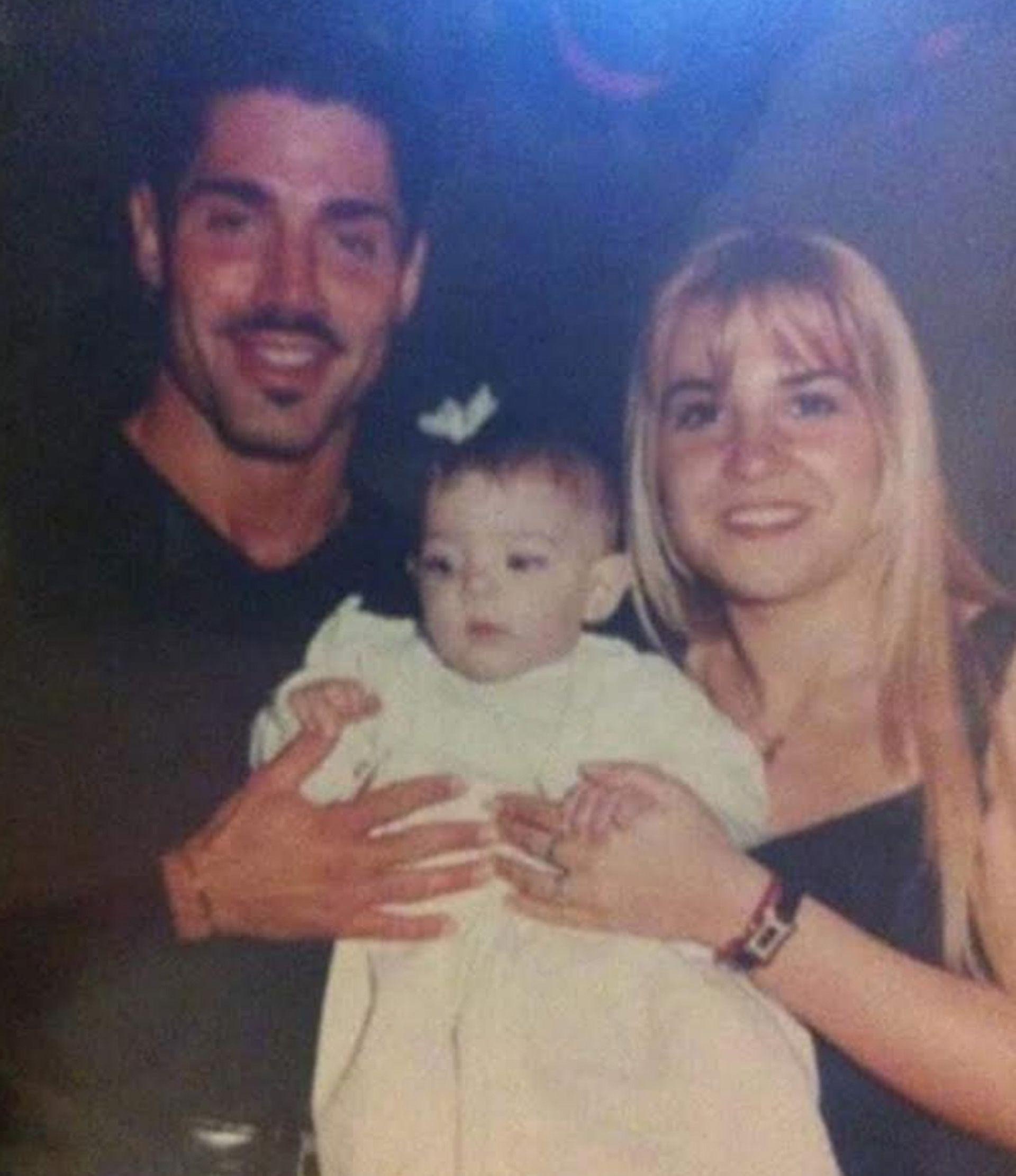 Macarena en su bautismo, Ricardo fue su padrino