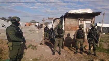 Operativo de Gendarmería en José C. Paz (Prensa Gendarmería Nacional)