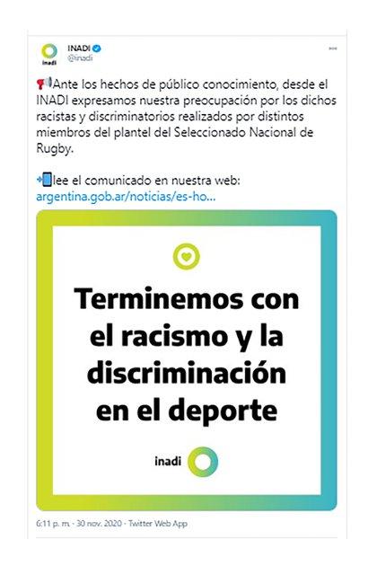 El comunicado del INADI por las publicaciones del capitán de Los Pumas, Pablo Matera