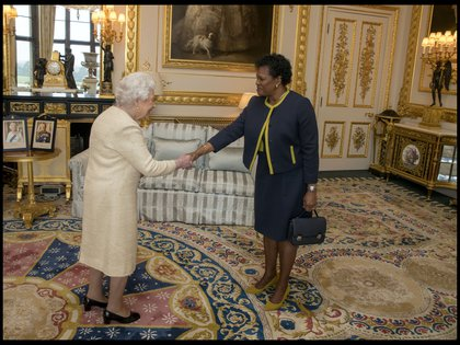 16/09/2020 La reina Isabel II de Inglaterra y la gobernadora general de Barbados, Sandra Mason. POLITICA EUROPA REINO UNIDO INTERNACIONAL I-IMAGES / ZUMA PRESS / CONTACTOPHOTO