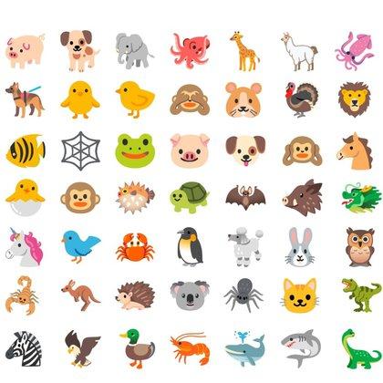 Así serán los nuevos diseños de los animales que llegarán a Android.