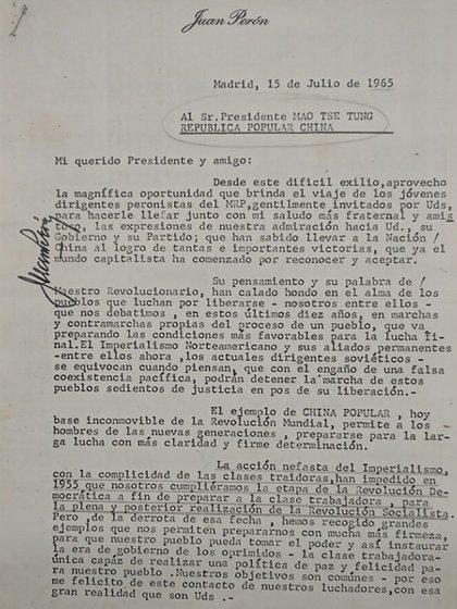La carta de Perón a Mao