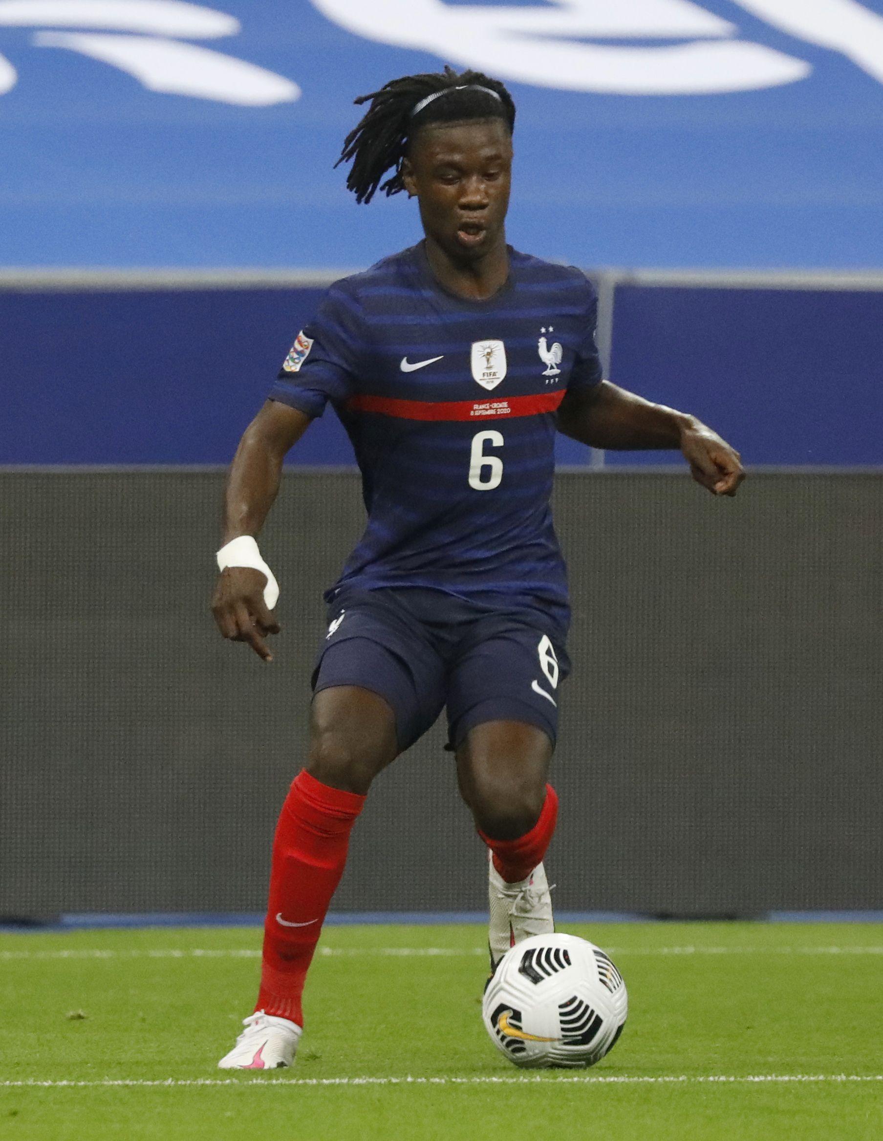 Su primer partido con la selección francesa mayor en la mayor fue el 8 de septiembre de 2020 ante Croacia por la Liga de las Naciones de la UEFA  (REUTERS/Charles Platiau)