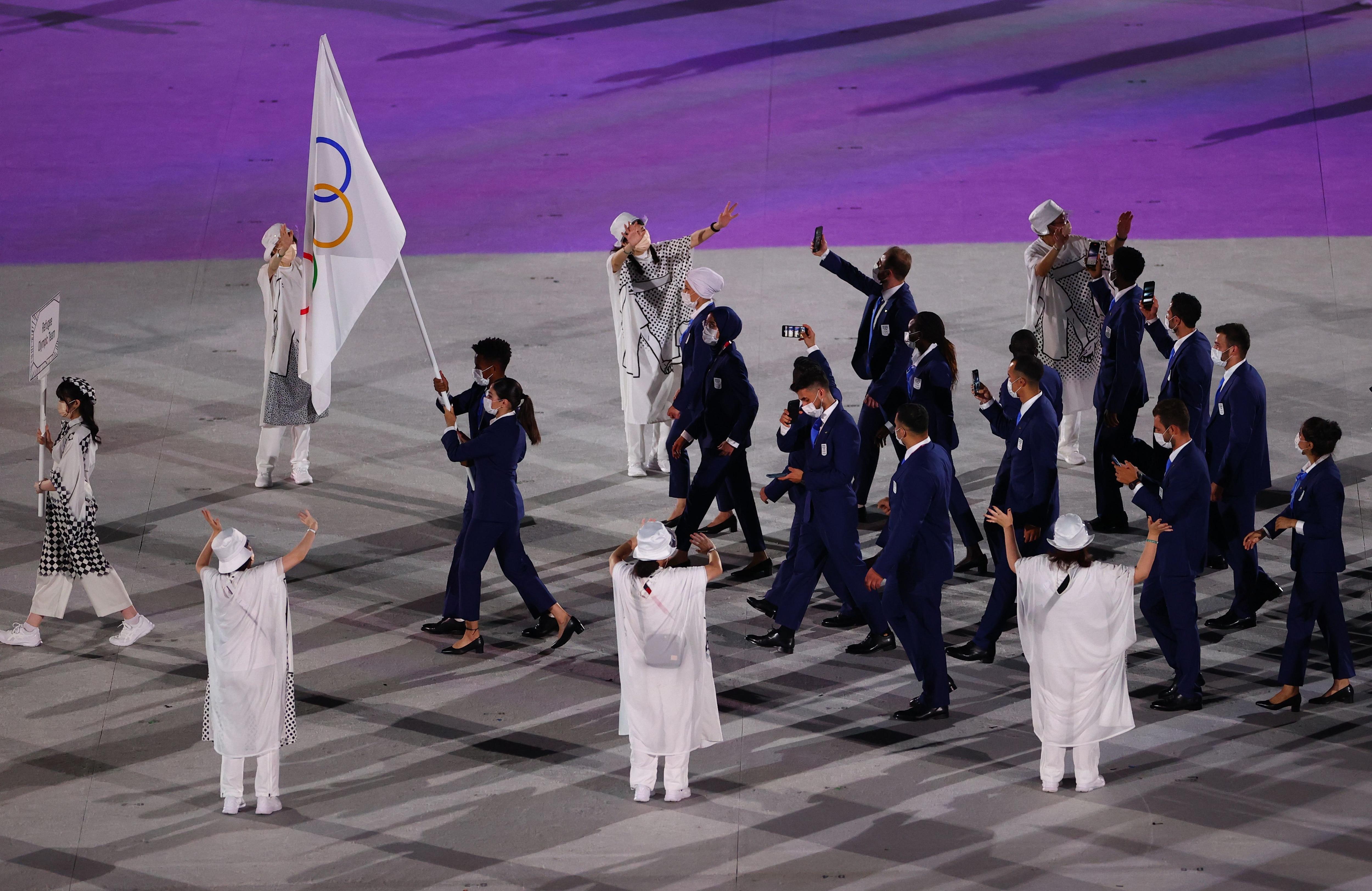 El equipo olímpico de refugiados, presente en Tokio 2020 (REUTERS/Marko Djurica)